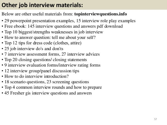 gis interview questions and answers guide