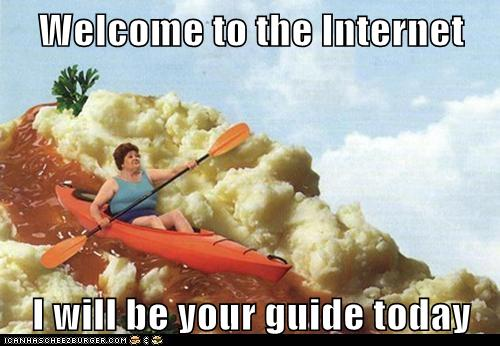 welcome to the internet i will be your guide