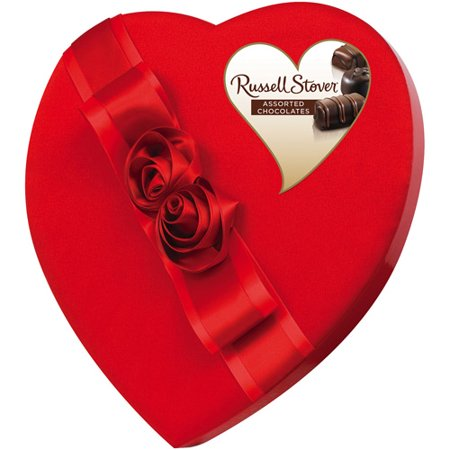 russell stover assorted fine chocolates guide heart