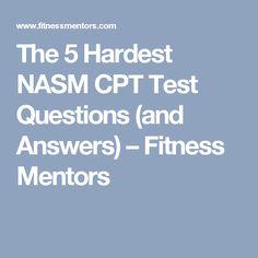 nasm cpt exam study guide