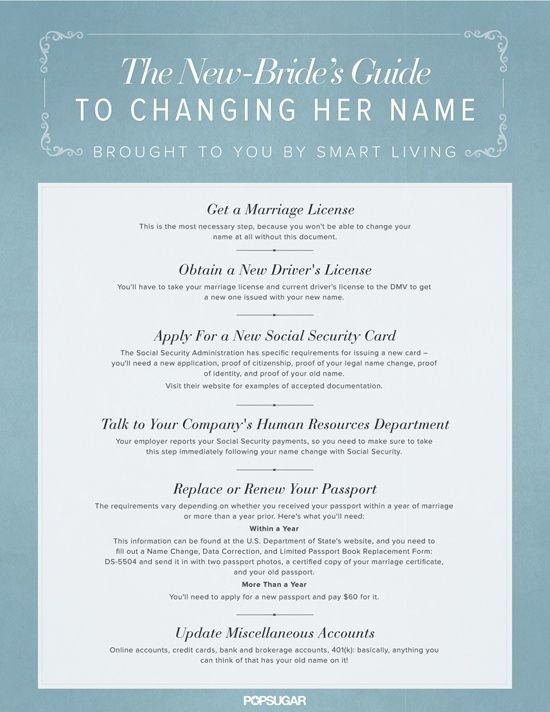 guide to changing name after marriage