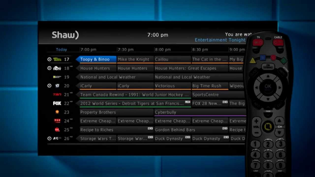 shaw basic cable tv guide vancouver