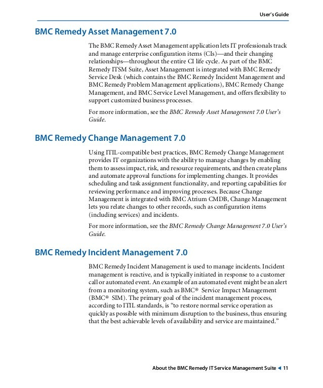 remedy change management user guide