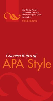 cites and sources an apa documentation guide 4e