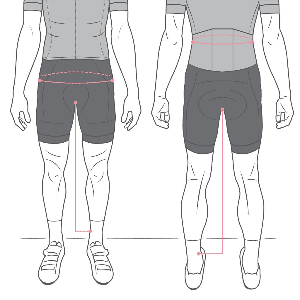 cycling bib shorts size guide