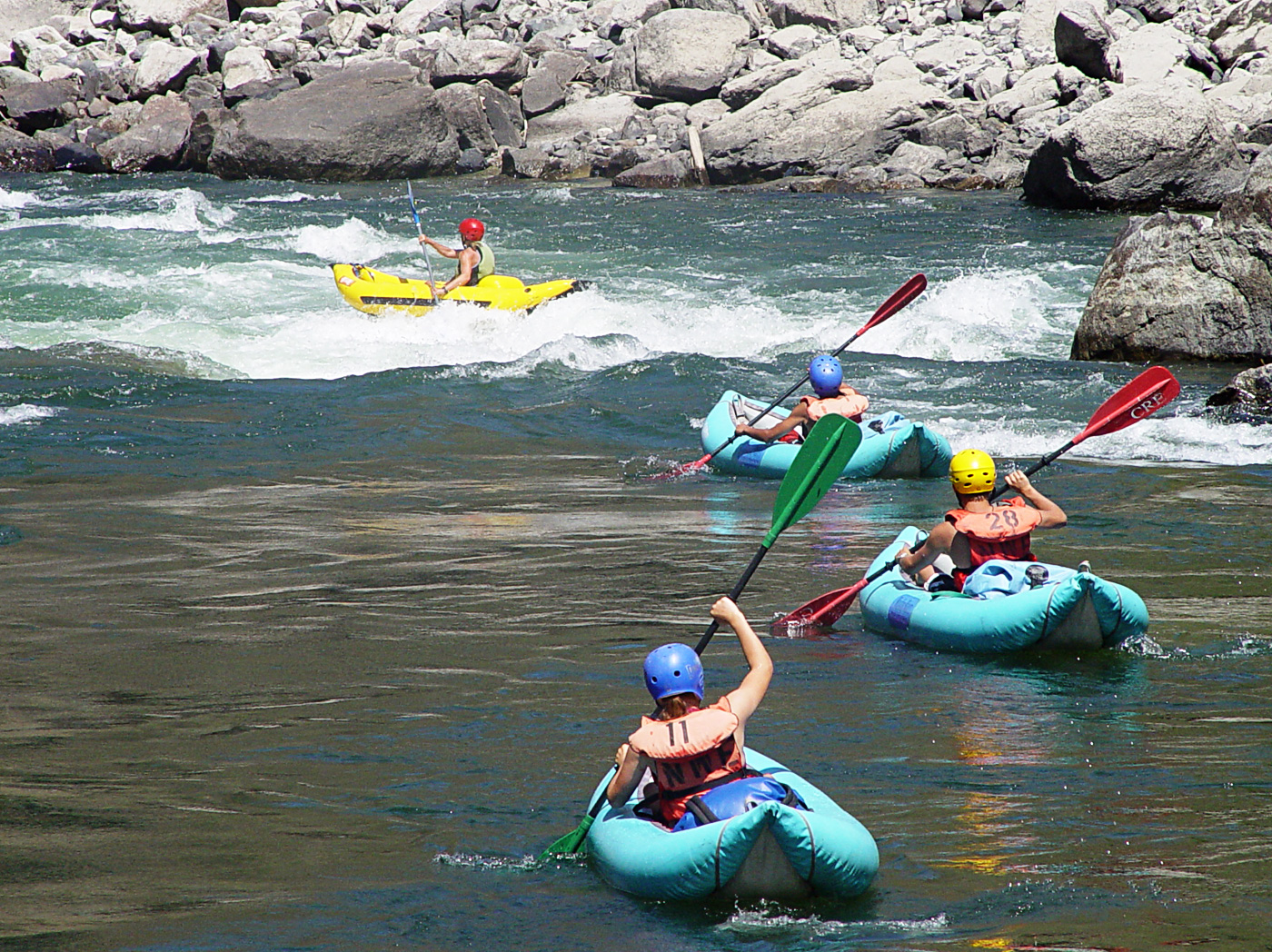 salmon river rafting guided trips