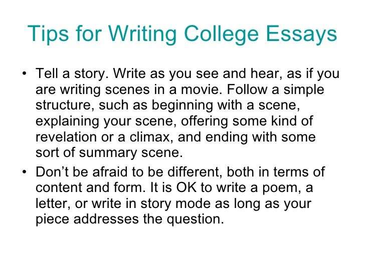 guide to writing college essays