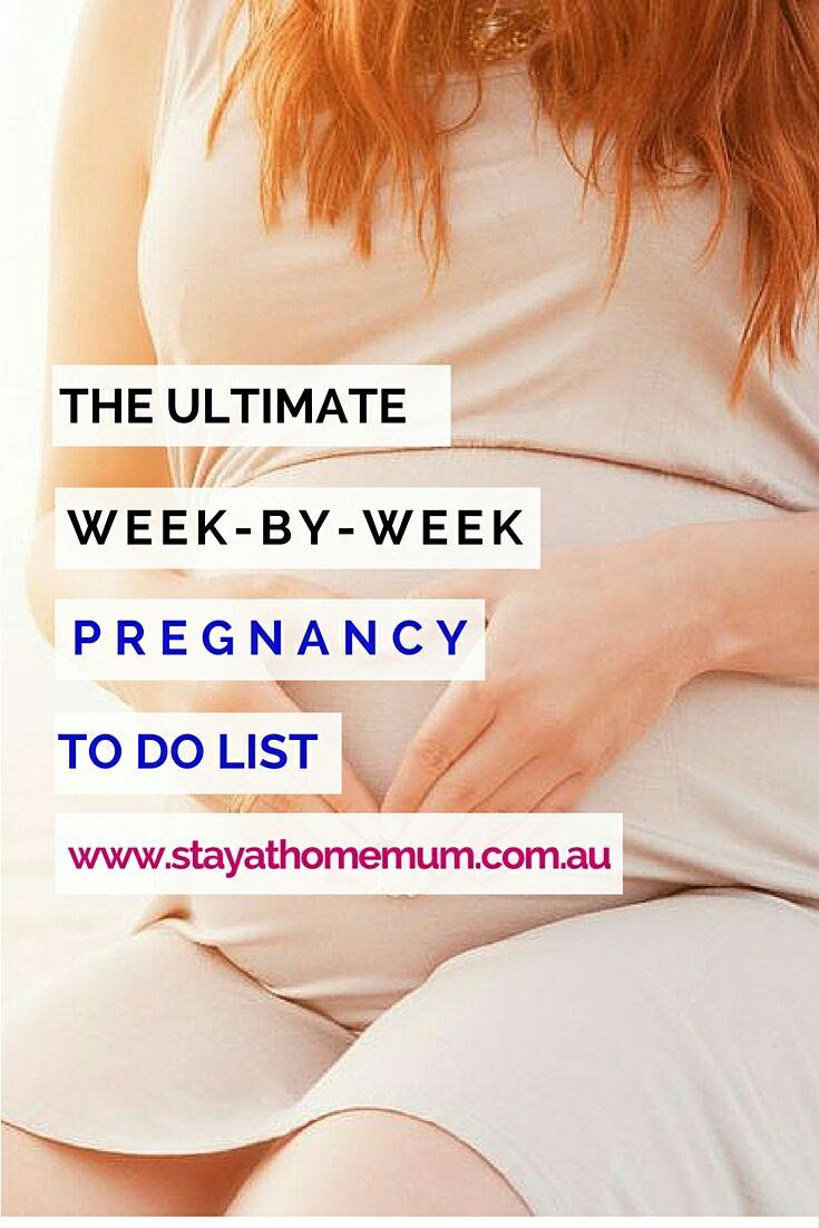 pregnancy week by week food guide